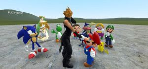 GMOD - Mario welcomes Cloud to Smash by thebestmlTBM