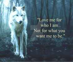 love me for me and not something im not by SonofSpardaDante