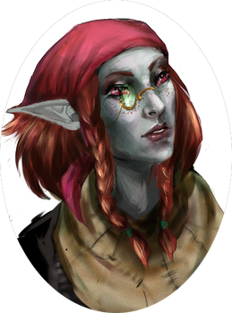TES - dunmer OC by slavehunter