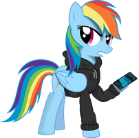 Rainbow Dash: Resistance Fighter by Farminilla