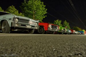 cars at night by AmericanMuscle