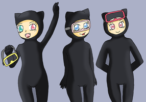 They look more like catsuits by jigglysama