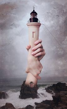 Beige Lighthouse by tRggtt