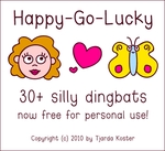Font: HAPPY-GO-LUCKY - free by jelloween