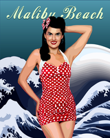 Malibu Beach Pin Up by ivankorsario