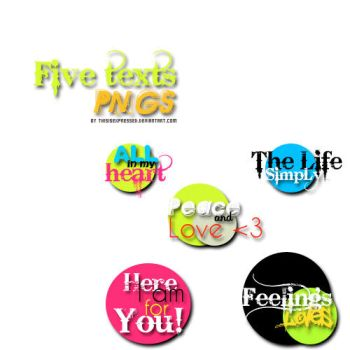 + five texts png's by thisisexpressed