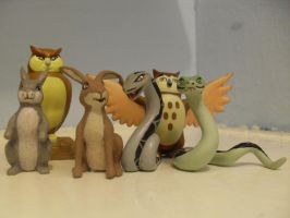 Animals of Farthing wood figures by redwolf18blue