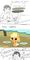 Generic Filly-Applejack Comic by einjel315