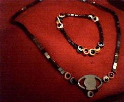 ronin warrior inspired necklace and bracelet by midnight-raven3
