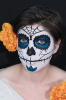 Dia de los muertos sugar skull by CupCakeMonsterCrafts