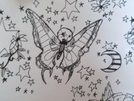 Doodles-Space Butterfly by The-Illuminist
