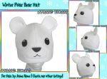 Winter Polar Bear Hat - For Sale by AnimeNomNoms