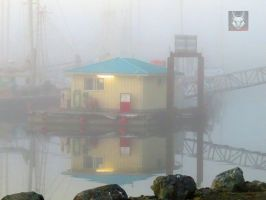 Fuel Dock In Fog by wolfwings1