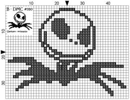 Jack Skellington Cross Stitch by Krissay20