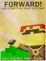 Minecraft Propaganda Poster: Forword! by 8-BitSpider