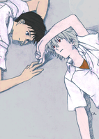 Shinji and Kaworu by franVrg