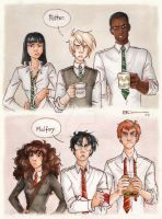 Silver Trio vs. Golden Trio by CaptBexx