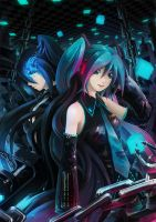 Hatsune Miku and BRS by subaru01rins