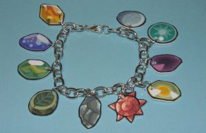 Pokemon Evolution Stones Bracelet by kouweechi
