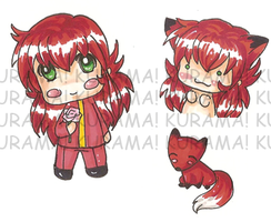 :sticker: Kurama and fox by sirenlovesyou