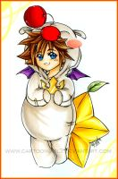 Moogle Sora by cartoongirl7