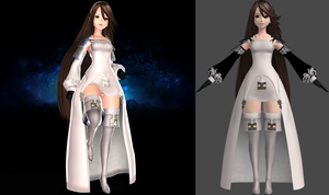 Bravely Default Agnes Oblige MMD to Xnalara by user619