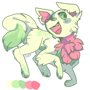 flower pup adopt (closed!!) by charlie-adopts