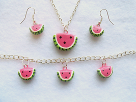 Watermelon Jewelry Set by Lilyanora