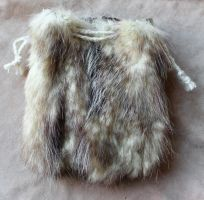 Large Opossum Fur Pouch by lupagreenwolf