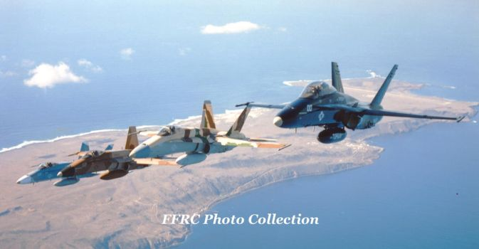 F/A-18 BuNo 161714, 162879, 162883 and 162875 by fighterman35