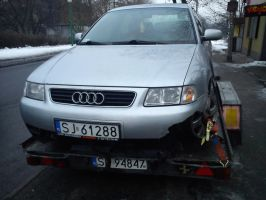 Crushed audi a3 by ValkirVR6
