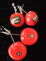 Red Nose Day Earrings by Mazzi294