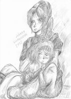 Sherry sleeps on Claire by Skenberg