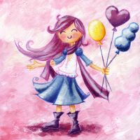 balloons acrilic by Veronica-Rodriguez