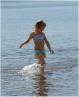 Playing In The Water I by Eirian-stock