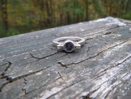 Image tanzanite ring in silver by whippetgirl