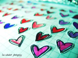 colored hearts by seasfairytale