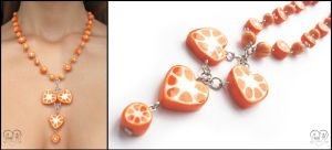 .:Chaplet 'Orange love':. by AnielClayWorks