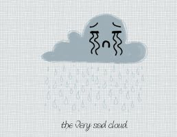 the very sad cloud. by creativlilthing