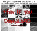 Screentone Collection v.1 by kyouyatsu