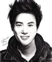 EXO Suho Drawing by CassPoon