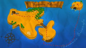 Treasure Map | Project for school by DemonzzDesigns