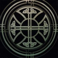 Celtic Cross Decorative Etched Glass Coaster Art by ImaginedGlass
