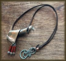 Copper and Mahogany Jasper Necklace by bgfdesigns