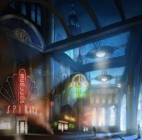 Main street concept art by thebeast-of-columbia