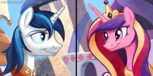 Square Series - Shining Armor and Princess Cadance by sophiecabra