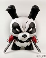 "Chainsaw Panda 8"" Dunny Custom by Pause-Designs"