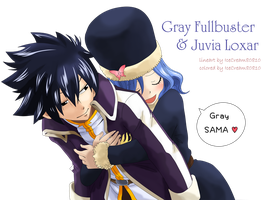 """hug"" Gray Fullbuster . Juvia Loxar by icecream80810"