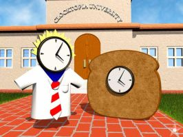 School and Toast Clock by RenegadeClock