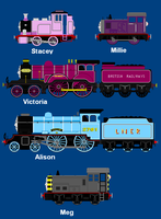 Thomas and Friends OC's by AngryScottishBurd